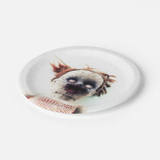 Halloween Doll Paper Plates 7 Inch Paper Plate