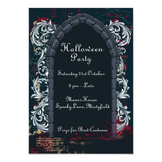 Halloween Draculas Castle Invitation