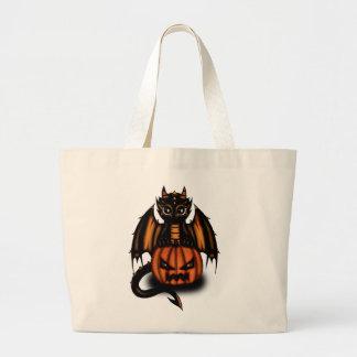 Halloween Dragon Canvas Bag