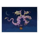 Halloween Dragon Card - Fiendishly good Halloween