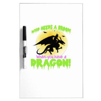 Halloween dragon tee dry erase board
