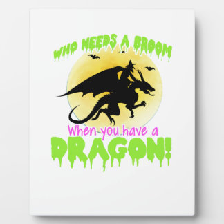 Halloween dragon tee plaque