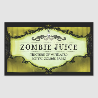 Halloween Drink or Treat Labels Large Yellow