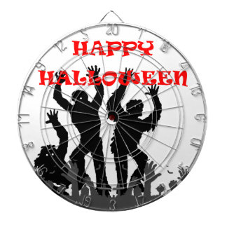 Halloween drooling zombie dart board
