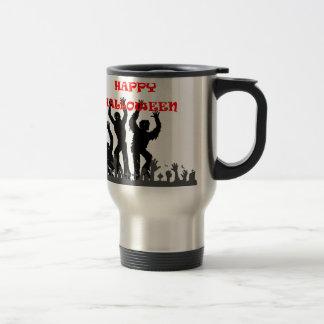 Halloween drooling zombie travel mug