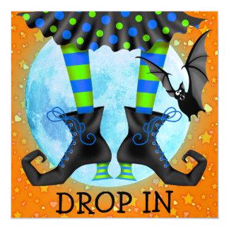 Halloween Drop In 13 Cm X 13 Cm Square Invitation Card