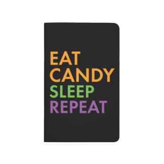 Halloween - Eat Candy, Sleep, Repeat - Novelty Journal
