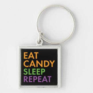 Halloween - Eat Candy, Sleep, Repeat - Novelty Key Ring