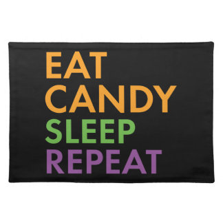 Halloween - Eat Candy, Sleep, Repeat - Novelty Placemat