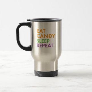 Halloween - Eat Candy, Sleep, Repeat - Novelty Travel Mug
