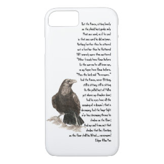 Halloween Edgar Allen Poe Raven Poem iPhone 7 Case