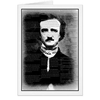 """Halloween ... Edgar Allen Poe's Poem, """"The Raven"""" Card"""