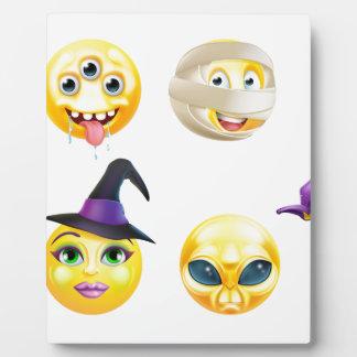Halloween Emoticon Icon Set Display Plaque