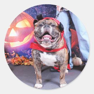 Halloween - English Bulldog - Spike Sticker