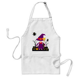 Halloween Evil Witch Adult Apron