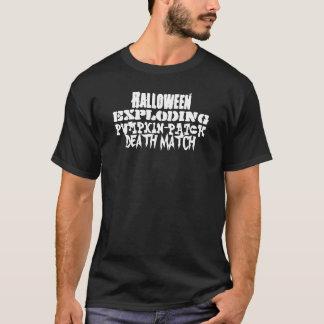 Halloween Exploding Pumpkin Patch Death Match T-Shirt