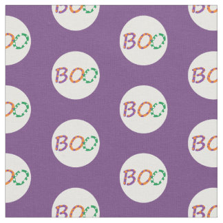 """Halloween fabric with colorful """"Boo"""""""