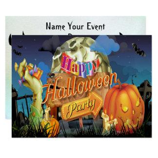 Halloween Fabulous Vector Art Party Invitation