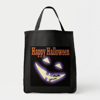 Halloween face trick or treat bag