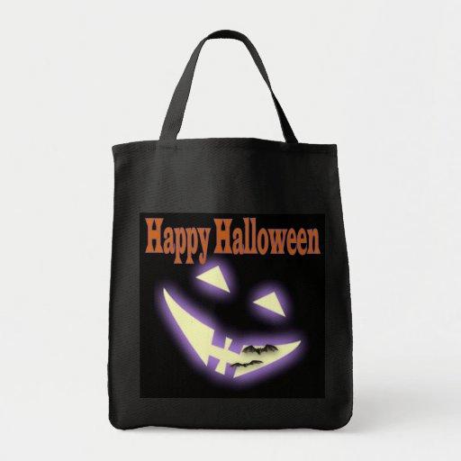 Halloween face trick or treat bag