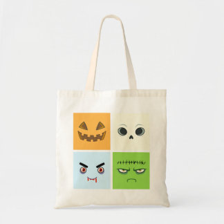 Halloween Faces Tote Bag