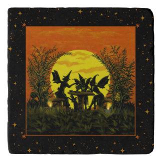 Halloween fairies stone trivet