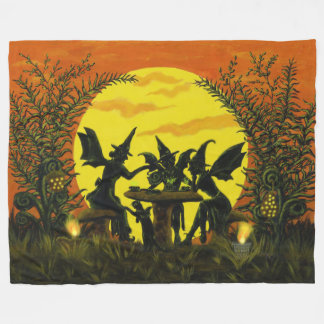 Halloween fairy witches blanket