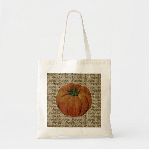 Halloween & Fall Vintage Pumpkin Tote Bag