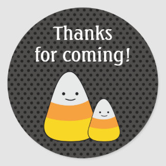 Halloween Favor Thank You Candy Stickers