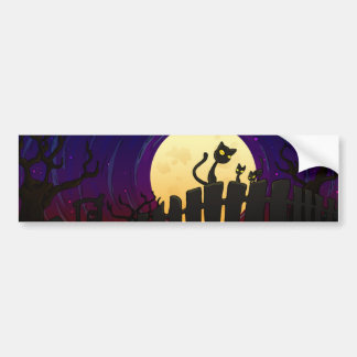 Halloween Fence Bumper Sticker