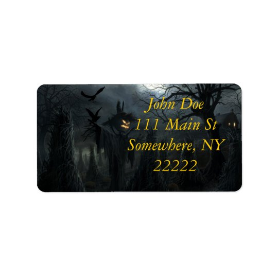 Halloween Field of Death Address Label