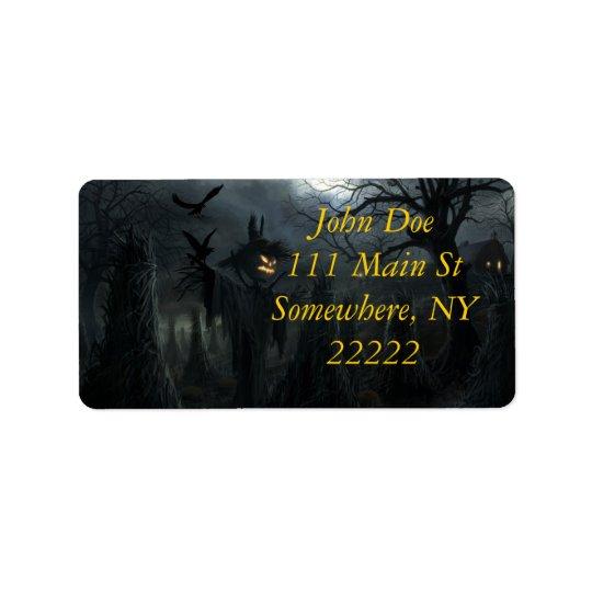 Halloween Field of Death Label