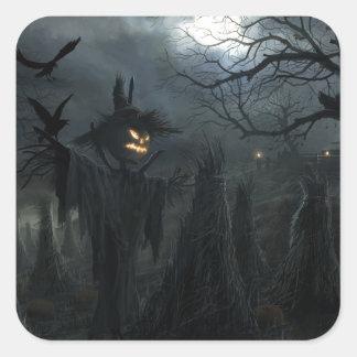 Halloween Field of Death Square Sticker