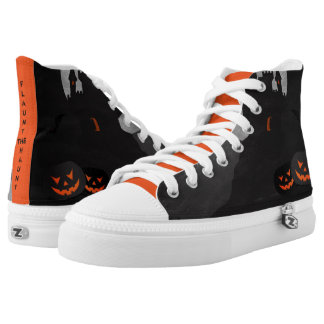 Halloween Flaunt the Haunt House Printed Shoes