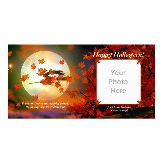 Halloween Flight Customized Photo Card