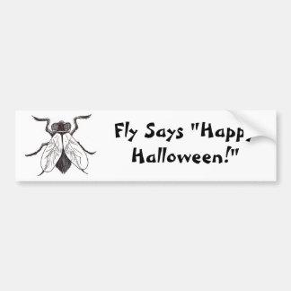 Halloween Fly Art Bumper Sticker