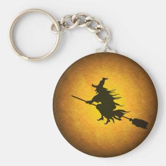 Halloween Flying Witch Keychain