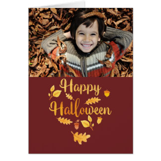 Halloween Folded Photo Greeting Card