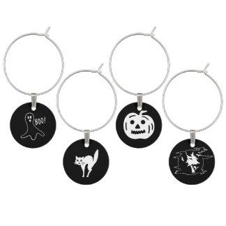 Halloween Fonts Set - Witch, Ghost, Cat, Pumpkin Wine Charm