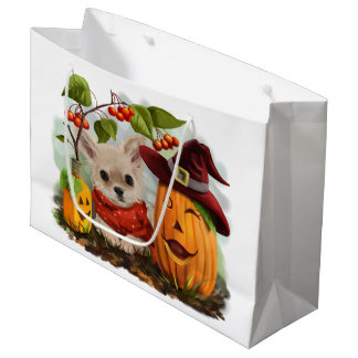 Halloween for Chihuahuas Large Gift Bag