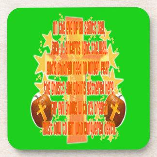 Halloween for Christians (Poem) Beverage Coaster