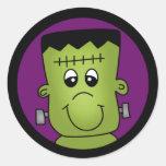 Halloween Frankie Round Stickers