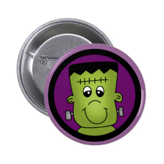 Halloween Frankie Tshirts and Gifts Button