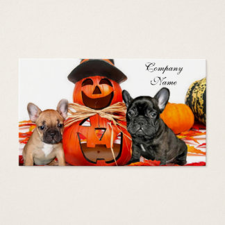Halloween French Bulldogs Business Card