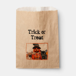 Halloween French Bulldogs treat bags