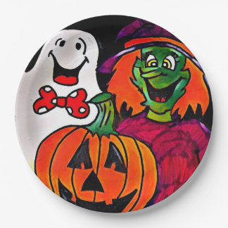 Halloween friends paper plates 9 inch paper plate