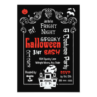 Halloween Fright Night Invitations