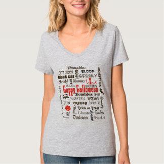 Halloween Fright Night Typography Tee Shirt