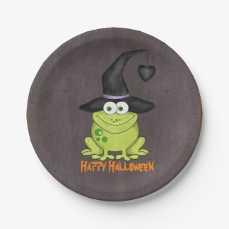 Halloween Frog 7 Inch Paper Plate