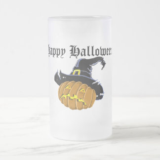 Halloween Frosted Glass Beer Mug